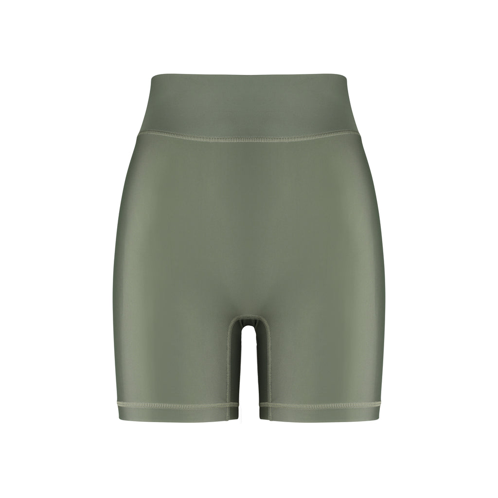 Cora Bicycle Shorts Olive Front