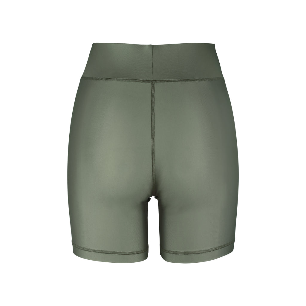 Cora Bicycle Shorts Olive Back