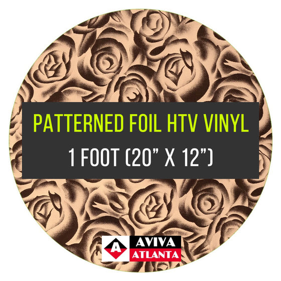 "Patterned Foil Vinyl 1 FOOT (20""x12"")"