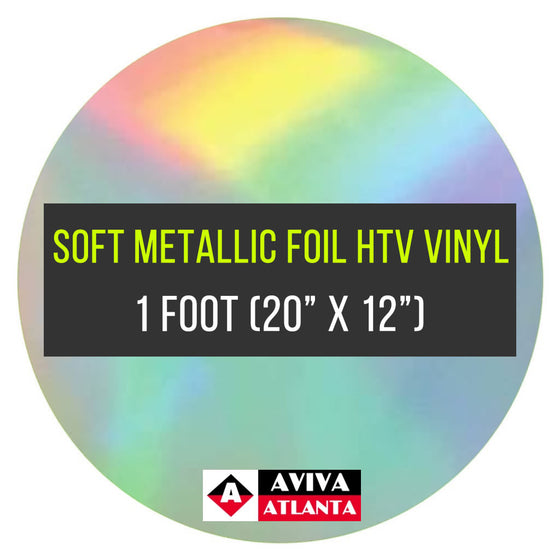 "Soft Metallic Foil Vinyl 1 FOOT (20""x12"")"