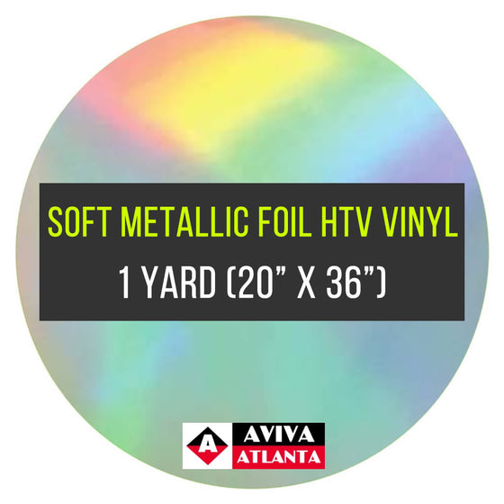 "Soft Metallic Foil Vinyl 1 Yard (20""x36"")"
