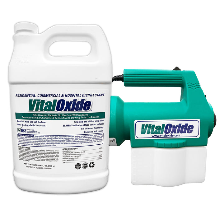 Vital Oxide Gallon Disinfectant Cleaner and Disinfectant Fogger Sprayer Combo - VITAL OXIDE