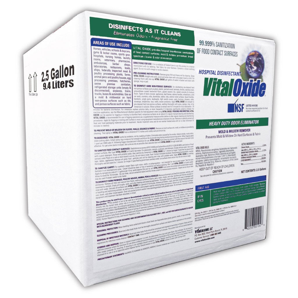 Vital Oxide 2.5 gal Effective Against H1N1 -  Odor Remover