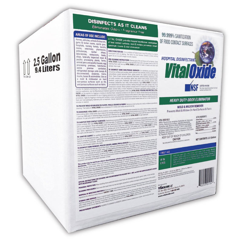 Vital Oxide 2.5 Gallon - Effective Against H1N1 - Eliminates Odor - VITAL OXIDE