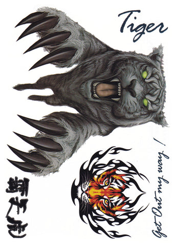 Tatouage temporaire Animal tribal - Tigre blanc royal