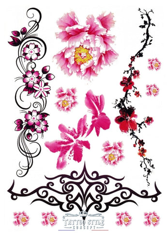 Planche De Tatouage Art Floral Ornement Lovely