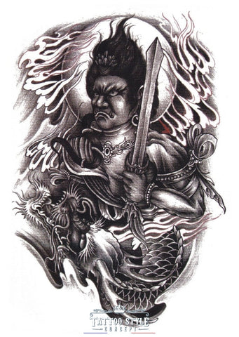 Tatouage Asiatique - Épée Et Dragon Asian