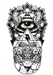 Tatouage Dessin Brut Illuminati En Art Abstrait Abstrait