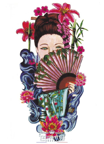 Tatouage Femme Geisha Japonaise Artwork Asian