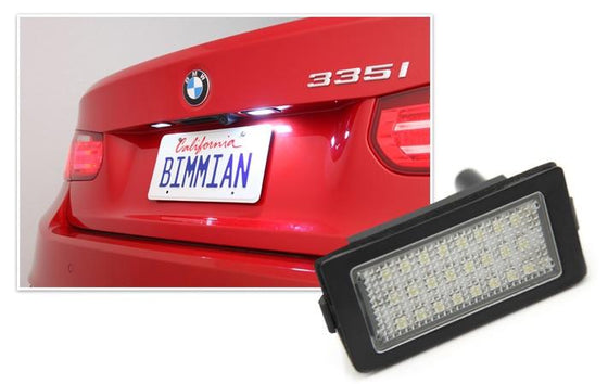 WeissLicht LED License Plate Light for BMW E70 X5, E82 1 Series, E9X 3 Series, E39/E60/F10 5 Series, F3X 3 Series