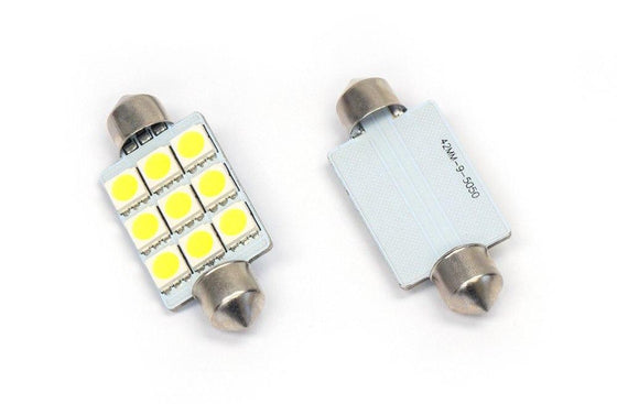 WeissLicht Interior LED Bulbs - Single 1.75in 44mm Festoon Style Bulb - Type: L