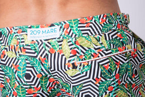 209 Mare Men's Monaco Kambuku 209 Swim Trunks Back Logo Details