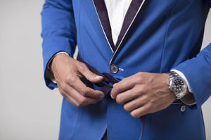 209 Mare Men's Formentera Blue Original 209 Beach Blazer Front Button Details