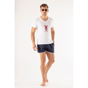 209 Mare V-T-9 Red C'est La Vie T-Shirts Model