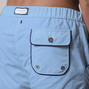 209 Mare Men's Cannes Sky Blue 209 Swim Shorts Back Pocket Details