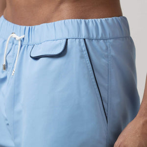 209 Mare Men's Cannes Sky Blue 209 Swim Shorts Side Details