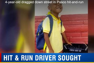 4-year-old boy getting off of school bus hit, dragged by pick-up truck in hit-and-run