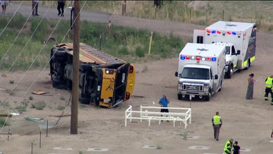 At least 29 injured in Weld County school bus crash