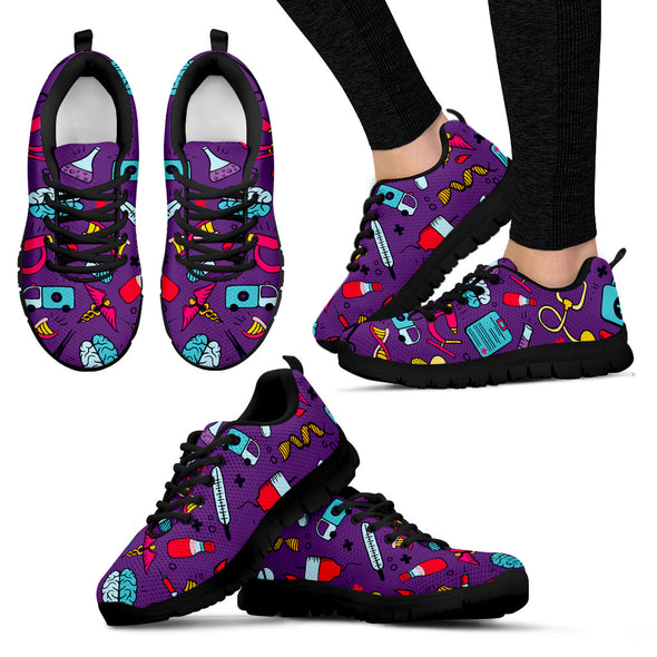 Doctor / Nurse Purple Women's Sneakers