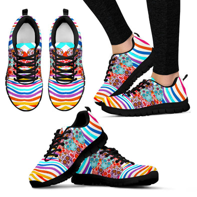 Stripes &  Sugar Skull Handcrafted Sneakers.