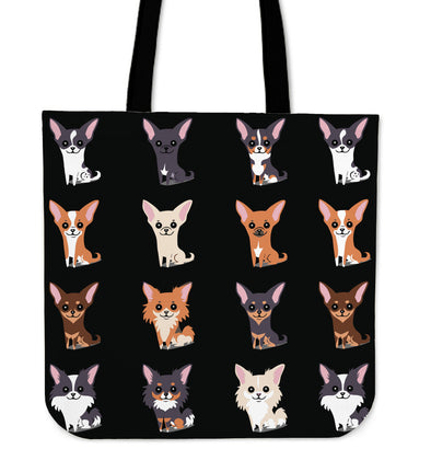 Chihuahuas Tote Bag - Black