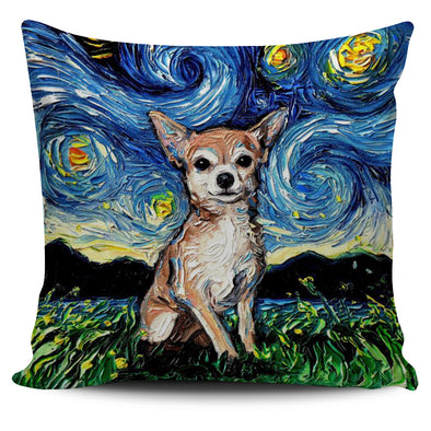 Chihuahua starry night - Pillow Cover