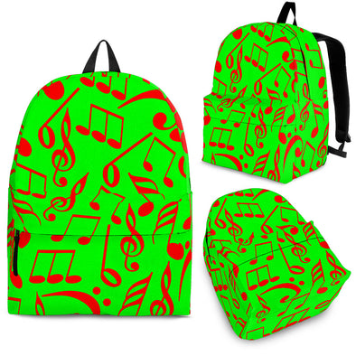 Back Pack Music Note Green