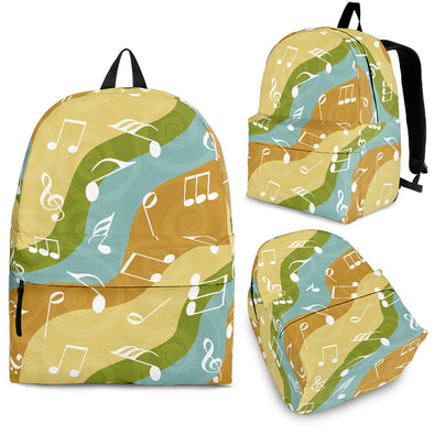 Back Pack Music Note Multi Color