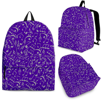 Back Pack Music Note Purple
