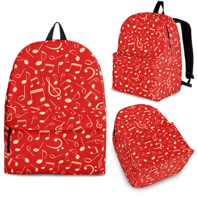 Music Notes Red Backpack