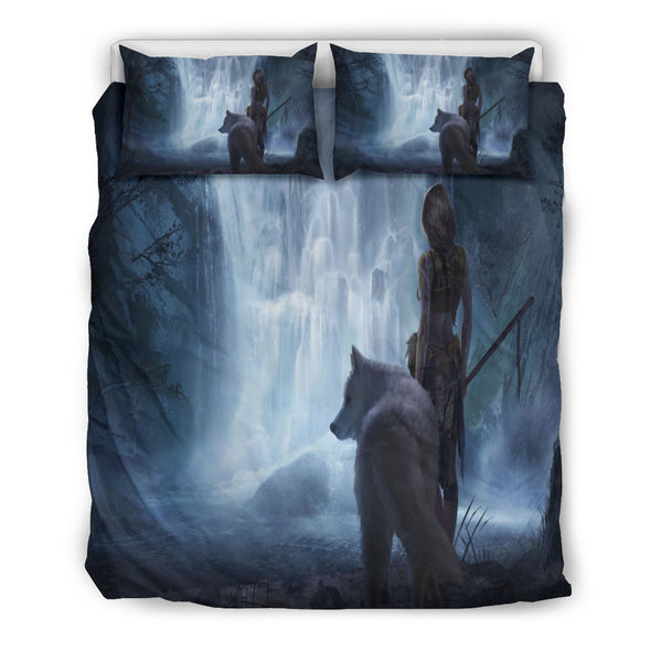 White Wolf Fantasy Doona Bedding Set