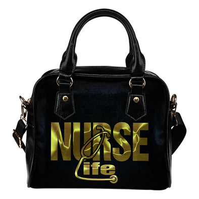 NURSE LIFE HANDBAG black