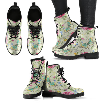Flowers and Butterfly Handcrafted Boots
