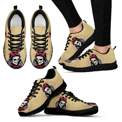 Woman Skull Handcrafted Sneakers.