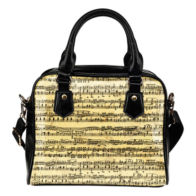 Sheet Music Shoulder Handbag