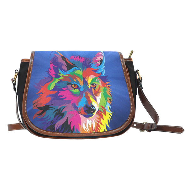 Wolf Colour Saddle Bag