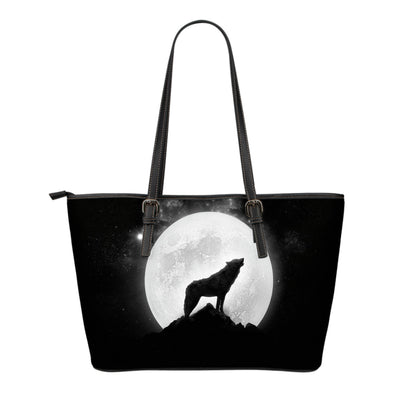 Wolf Howl Small Leather Tote