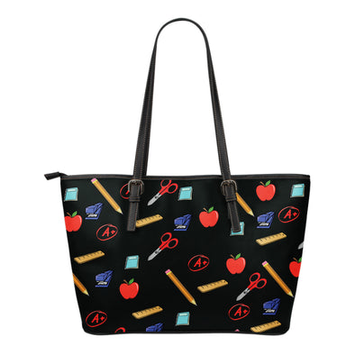 Teacher Appreciation Small Leather Tote Bag