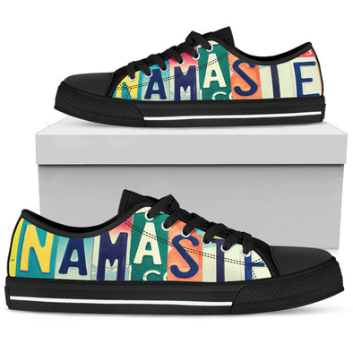 Namaste Yoga License Plate Shoes