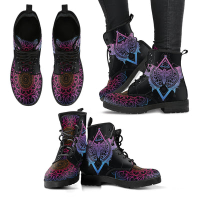 Spiritual Butterfly Women's Leather Boots