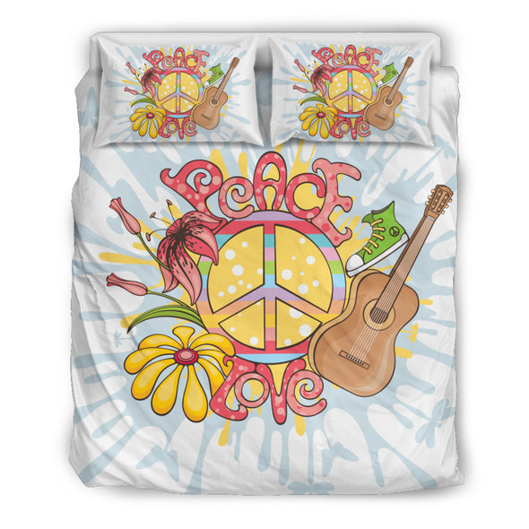 Love Peace Hippie Bedding Set.