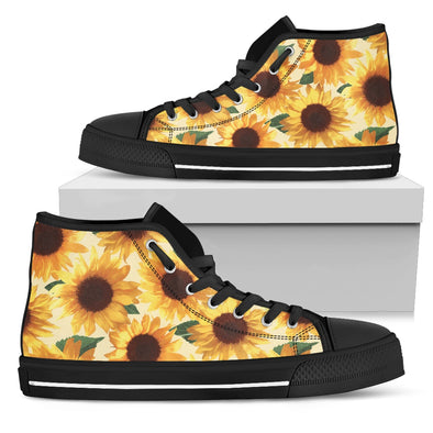 Sunflower High Top Shoes