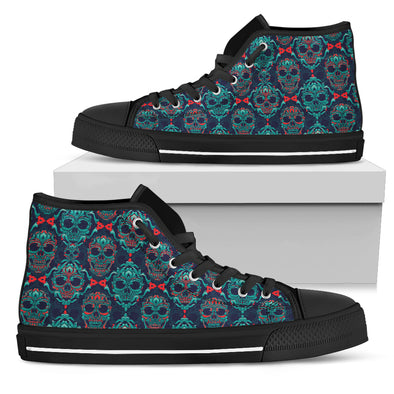 NP Skull Men's High Top Shoes