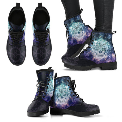 Steampunk Skull Handcrafted Boots