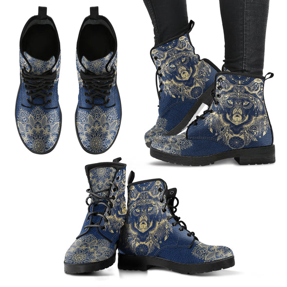 Wolf Mandala Handcrafted Boots