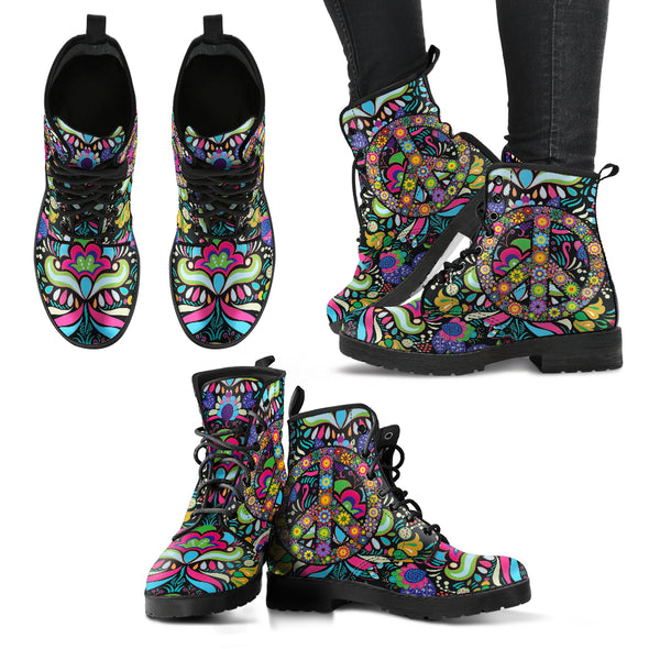 Hippie Peace Women's Leather Boots