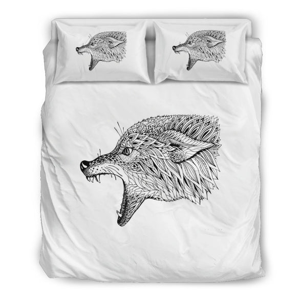 Abstract Zen Wolf Bedding Set