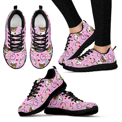 Bear Nurse Bubble Gum Women's Sneakers