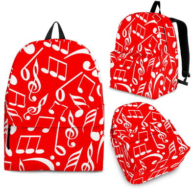 Back Pack Music Note Red