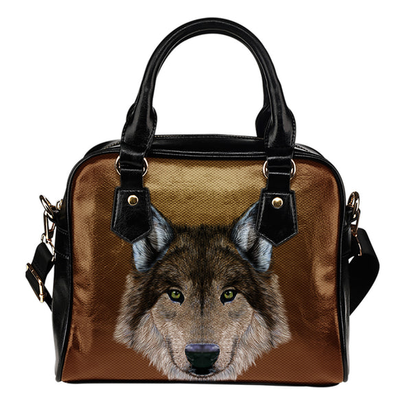Gray Wolf Ladies Leather Shoulder Bag
